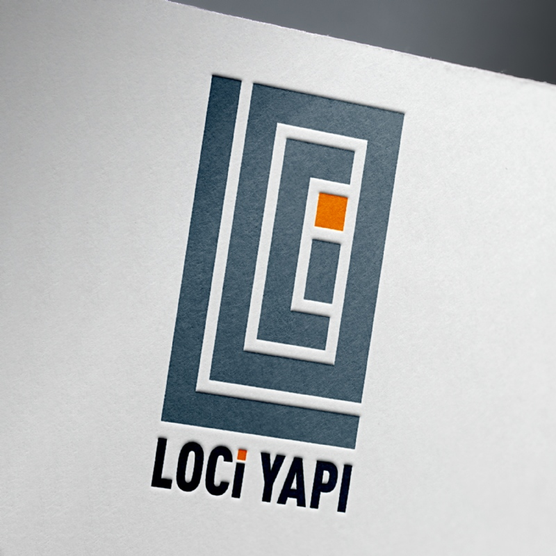 Designed for Loci Yapı logo, business card and signboard (2018)