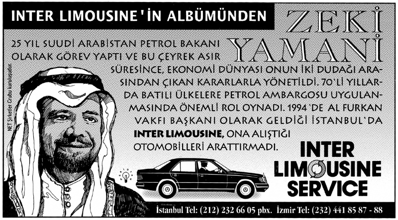 Serial newspaper ads for Inter Limousine Service (1992)