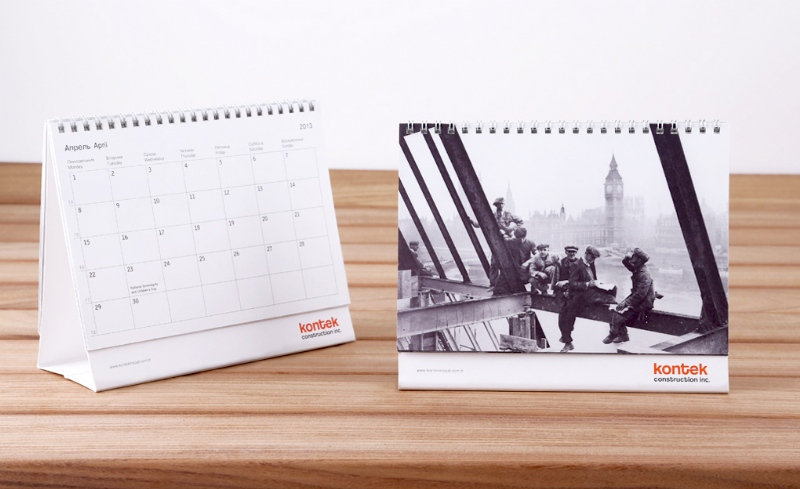 Desk calender for Kontek Construction (2013)
