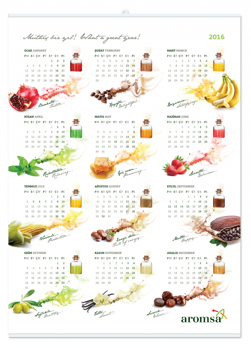 Wall calender for Aromsa (2015)