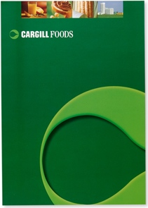 A4 sized brochure design for Cargill Foods