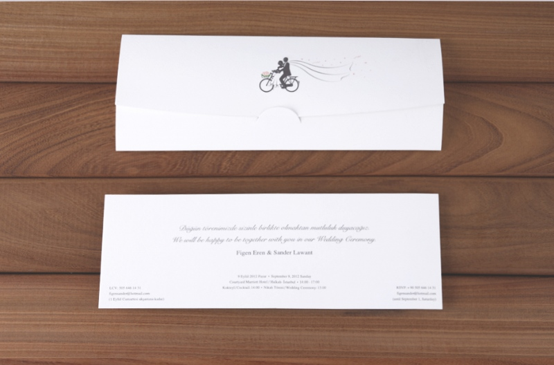 Exclusive wedding invitation design for Figen & Sander (2012)