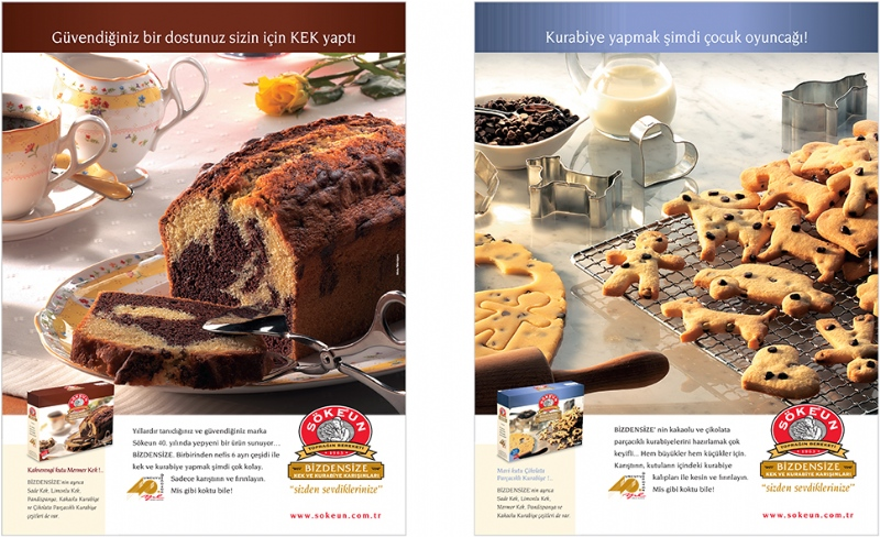 Magazine ads for Soke cake mixes (2003)