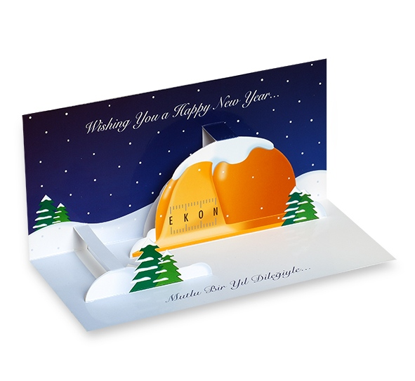 New year greeting card for Ekon Construction (2006)