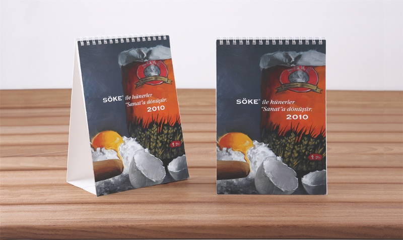 Desk calender for the flour brand Söke