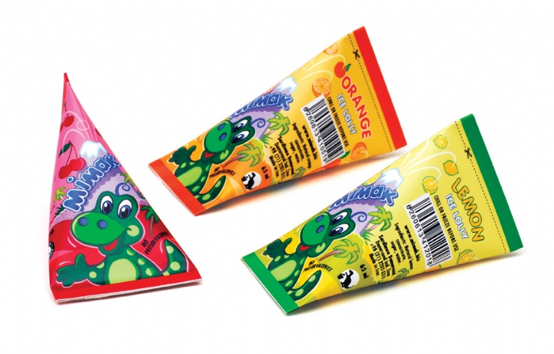 Ice-lolly package designs for Mimak brand in Iran market (2007)