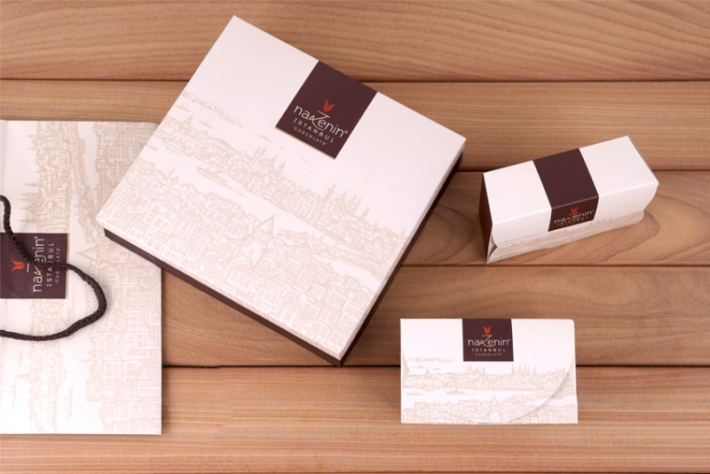 Chocolate boxes and paper bag designs for Nazenin Istanbul (2015)