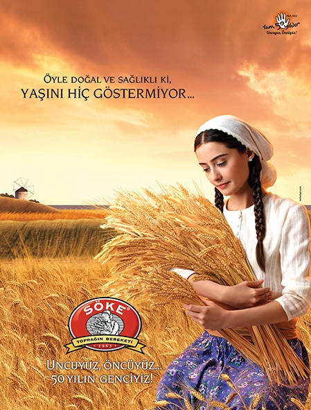 Advertising campaign for the 50th anniversary of the flour brand Söke (2013)