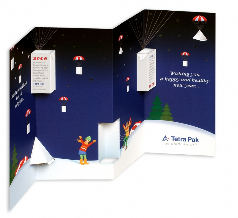 New year greeting card for Tetra Pak (2006)
