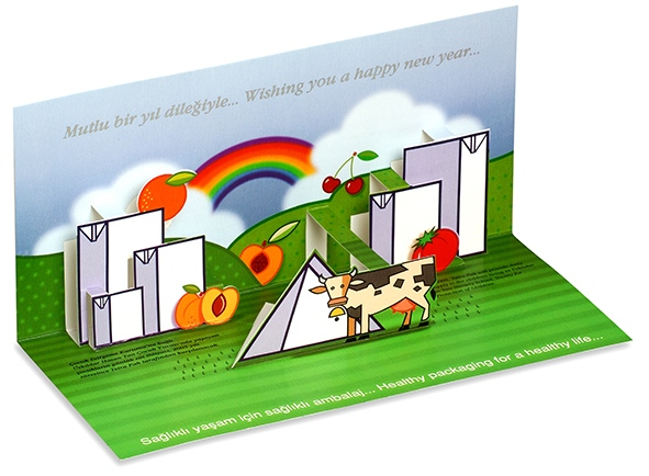 Pop-up greeting card for Tetra Pak (2002)