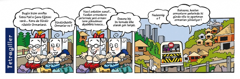 Comic strip serial for Tetra Pak's quarterly publication Tetragiller (2000-2006)