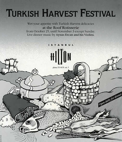 Turkish Daily News newspaper ad for Hilton Istanbul (1989)