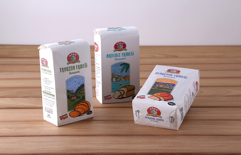 Package designs for the regional bread mixes of Söke (2010)